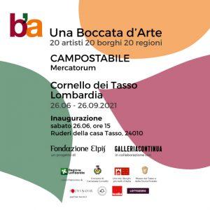 Una Boccata D'Arte: il progetto di arte contemporanea nei borghi Italiani. Per la Lombardia è stato scelto Cornello dei Tasso.